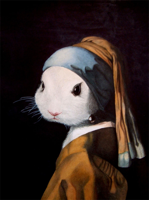 bunny with a pearl earring